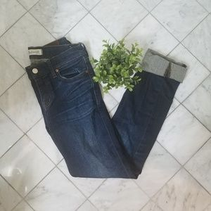 """Madewell """"Alley Staight"""" Dark Wash Jeans"""